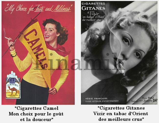 Publicités cigarettes années 20-50 - Kinamik