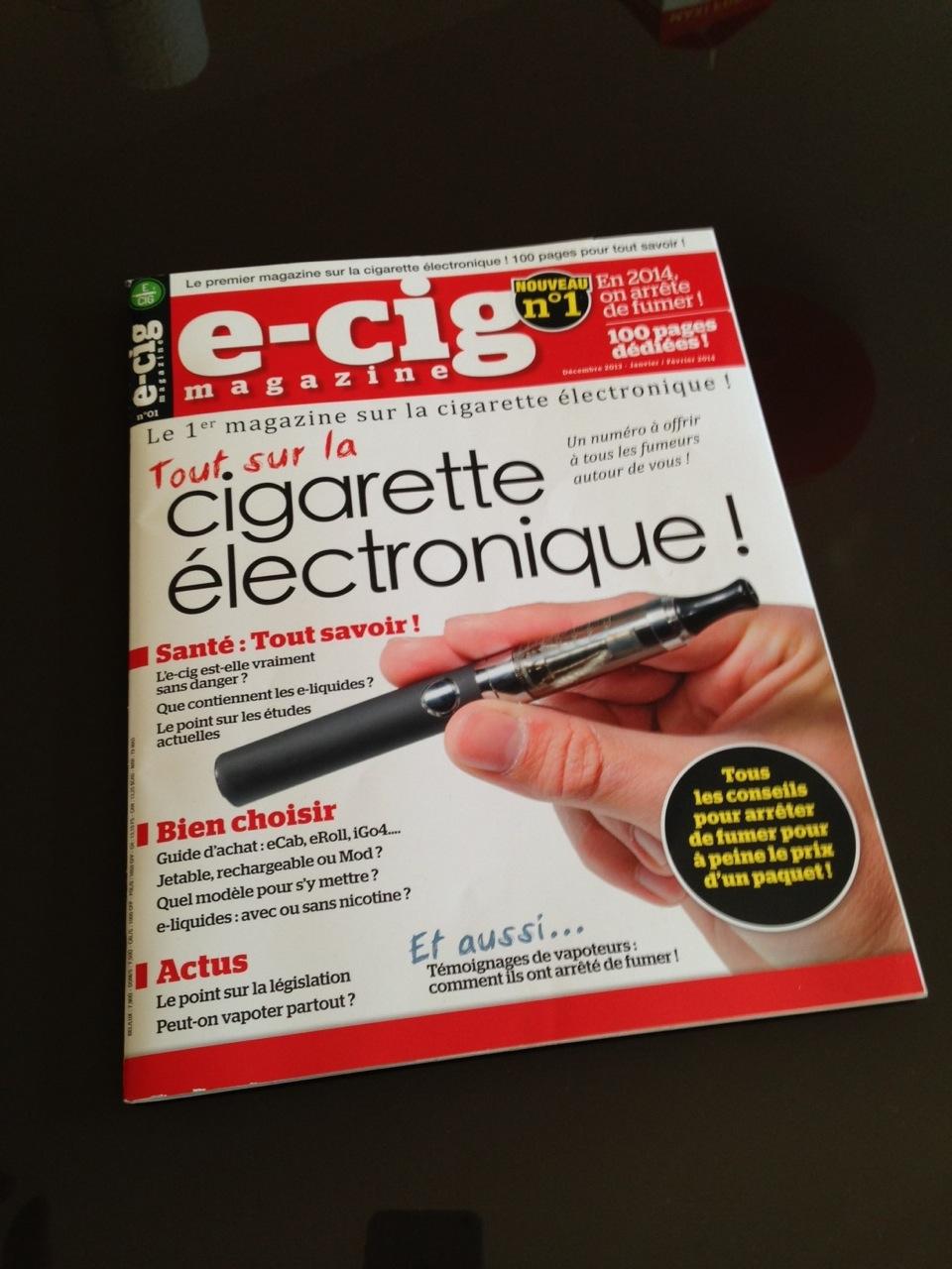 Photo of E-cig magazine: Le 1er magazine sur la cigarette électronique est dans les kiosques.