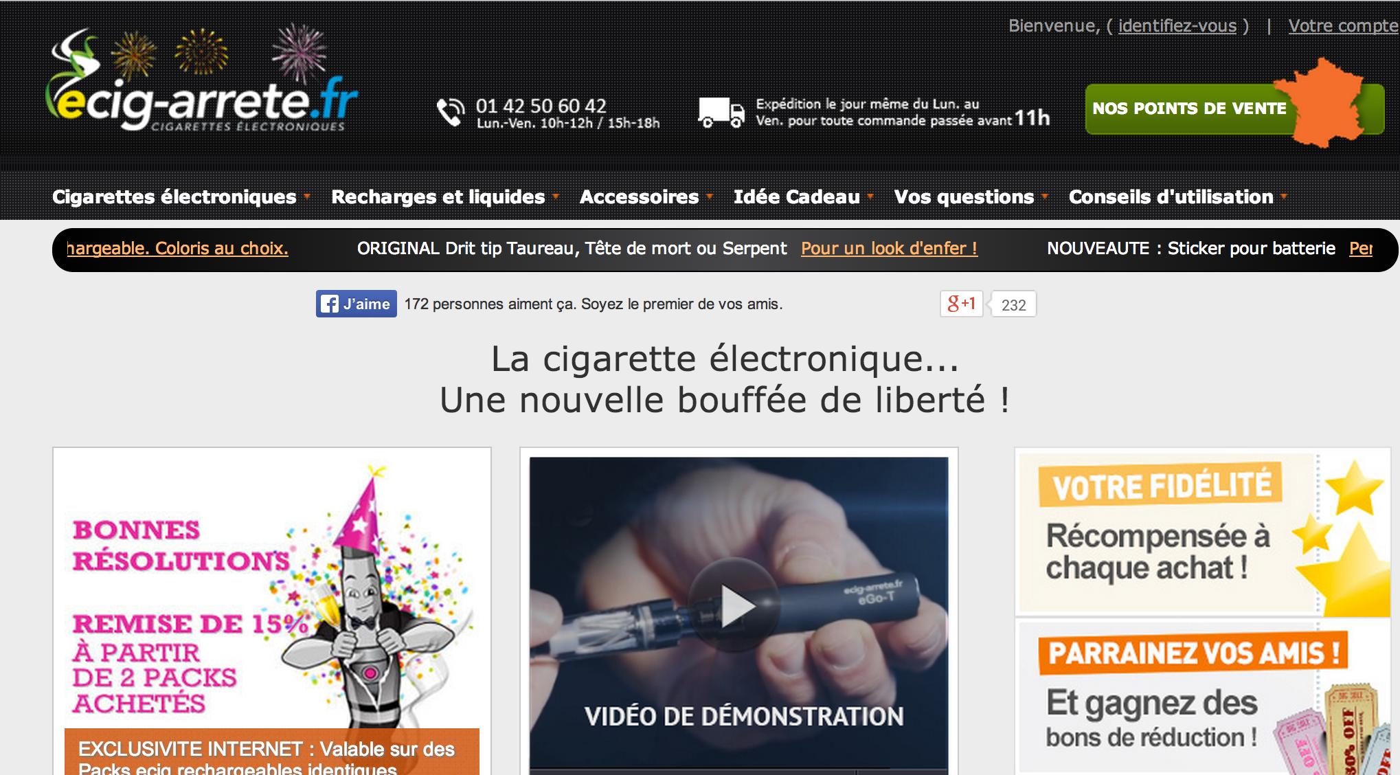 Photo of Ecig-arrete.fr annonce des soldes de folie !