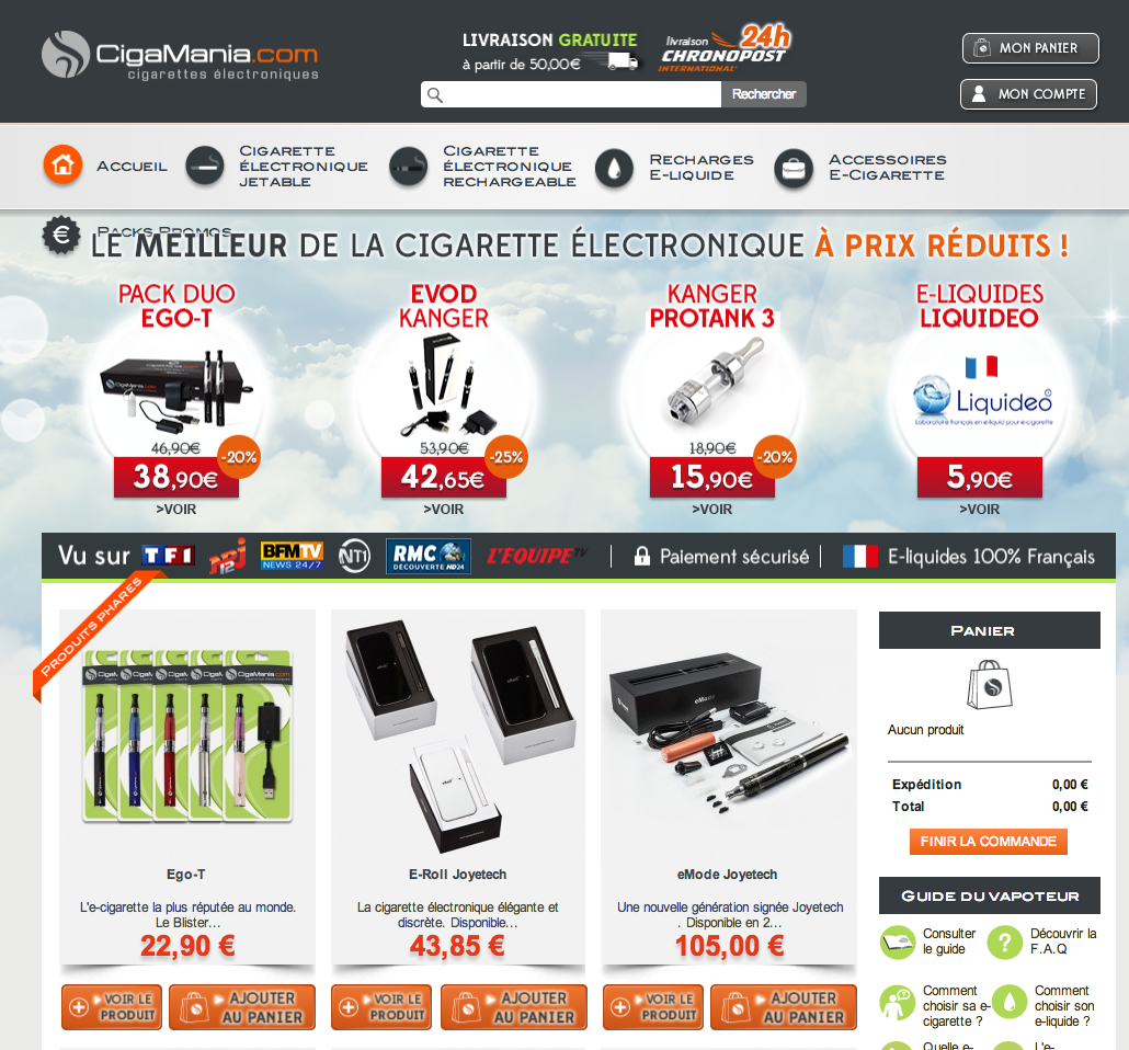 Photo of CigaMania.com – Le meilleur de la cigarette électronique