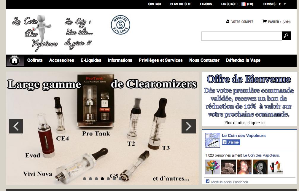 Photo of Le Coin des Vapoteurs : Un des sites doyens de la Ecig