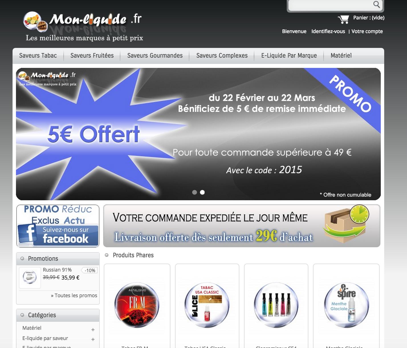 Photo of Mon-liquide.fr Les Grandes Marques Françaises de E-liquide à partir de 3,90 €